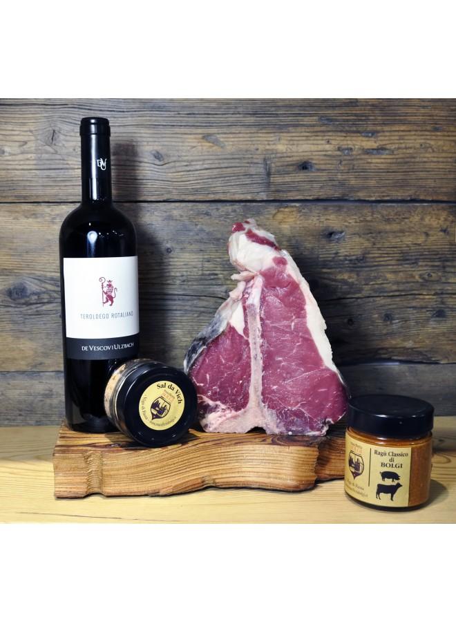 Idea regalo fiorentina con vino
